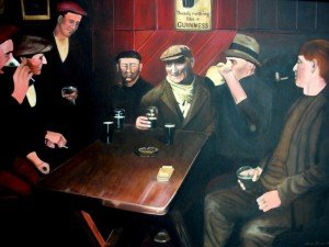 Enjoying a Guinness by Linda Brown